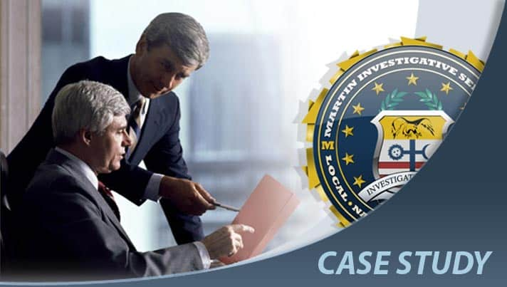 Case study: Background check case. Martin Investigative Services. (800) 577-1080