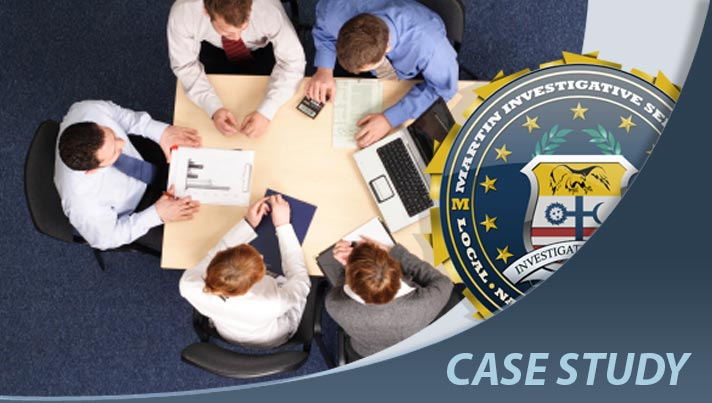Case study: Corporate espionage case. Martin Investigative Services. (800) 577-1080