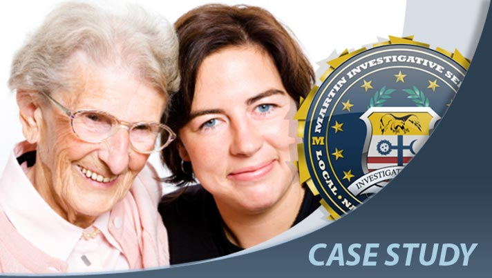 Case study: Locate birth mother case. Martin Investigative Services. (800) 577-1080
