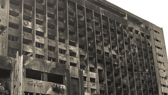 National Democratic Party building, Egypt, 2011.