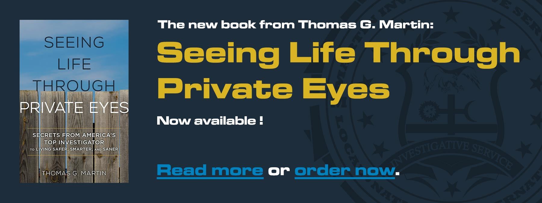 Seeing Life Through Private Eyes: The new book by Thomas G. Martin, is not available. Read more or order now.