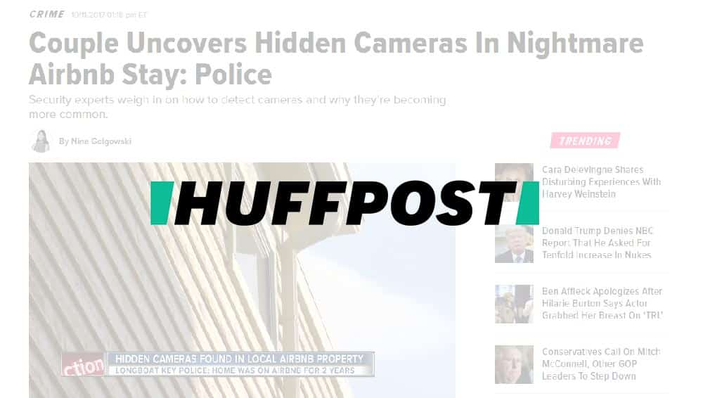 HuffPost: Couple Uncovers Hidden Cameras In Nightmare Airbnb